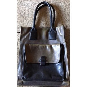 Genuine Leather Tote Bag Kenneth Cole